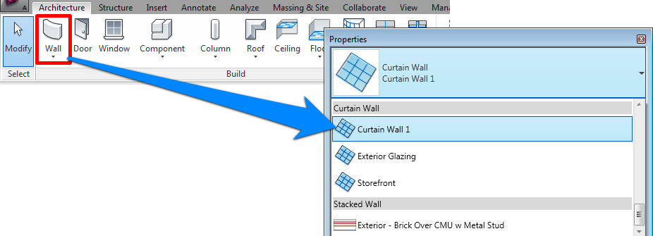 Adding A Door To Curtain Wall LEARNING REVIT
