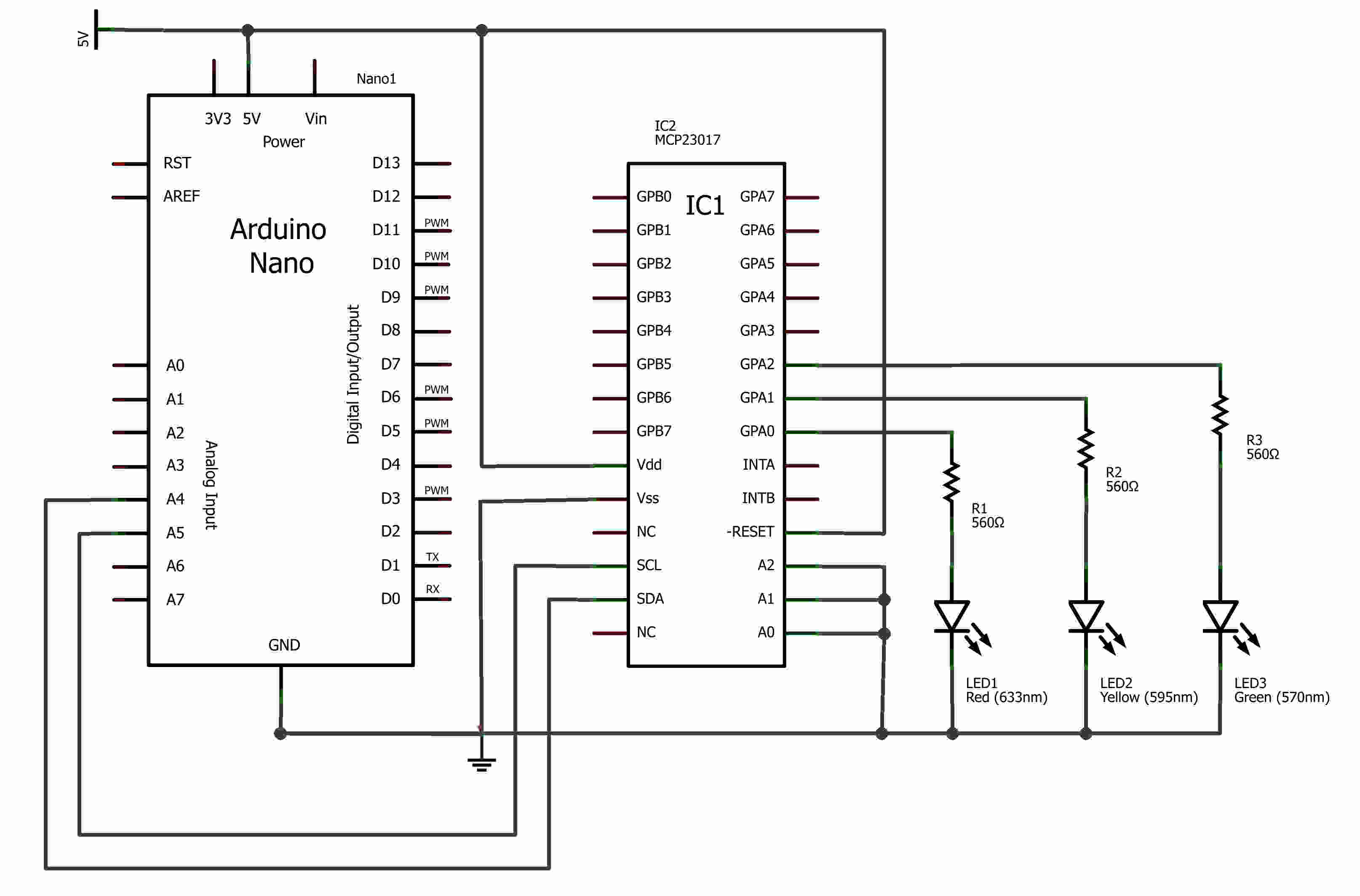 MCP23017 Output Using I2C