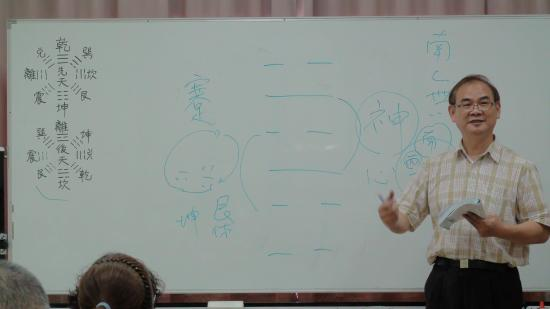 易經八字泰斗-何棰鑨 所長 於課程中解說易經八字的奧秘