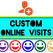 Custom Online Visits Logo on Learning-01