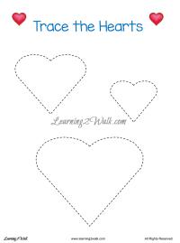 Valentine Frozen Worksheets- Learning 2 Walk