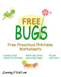 Free Bugs Preschool Printable Worksheets