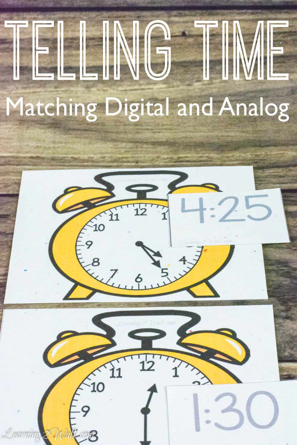 Telling Time Matching Digital And Analog