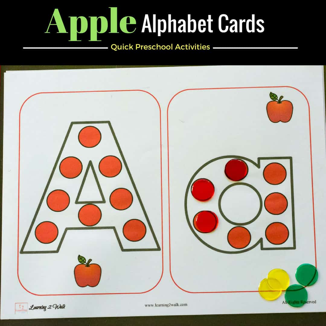 Quick And Easy Apple Alphabet Worksheets