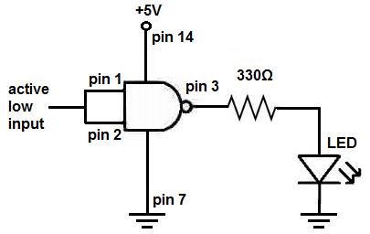 In Nand Gate Breadboard Circuit Not Gate Circuit Wiring