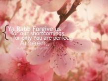 Duaa: Forgive our shortcomings