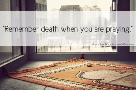 When praying