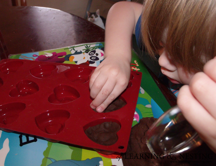 Chocolate Play Dough for Valentine's Day - of Learning and Nesting