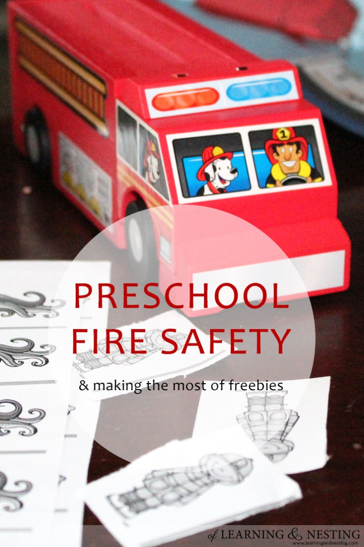 We used a project from Lowe's Build and Grow and a free printable set to start the conversation of fire safety.