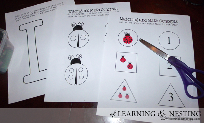 These Ladybug printables are great for preschool or kindergarten to go with a ladybug unit study.