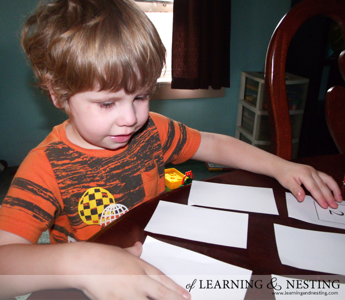 This Ladybug printable can be used to make basic memory/matching cards for a preschooler.