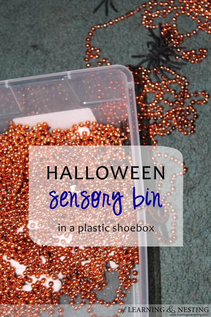 A fun Halloween sensory bin is so easy to throw together!