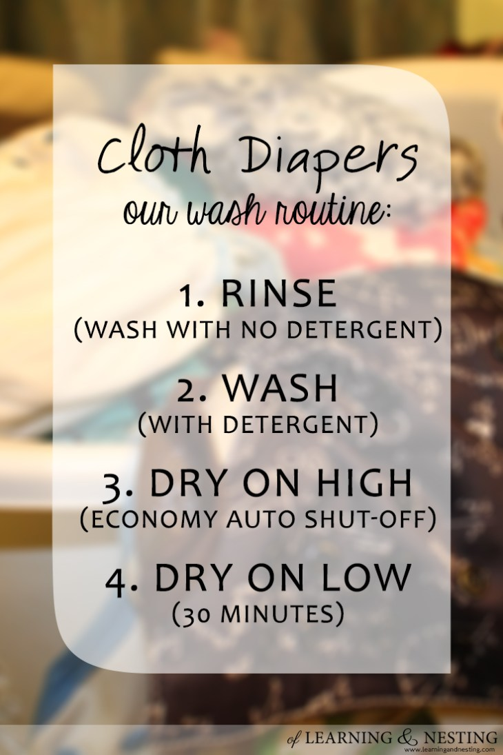 Cloth diaper laundry is very manageable as long as you don't complicate things.