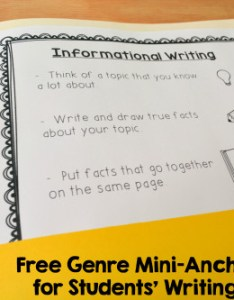 Download these free genre mini anchor charts for your kindergarten first grade or also writing folder tools  learning at the primary pond rh learningattheprimarypond