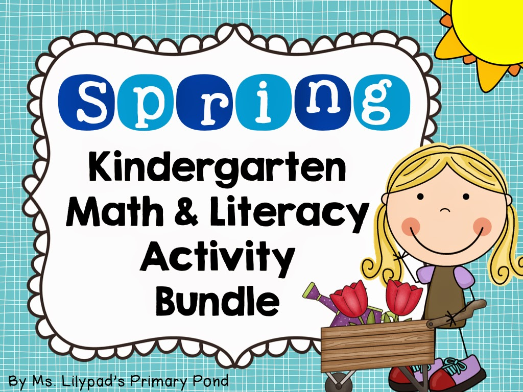 Spring Centers For Kindergarten And First Grade And A