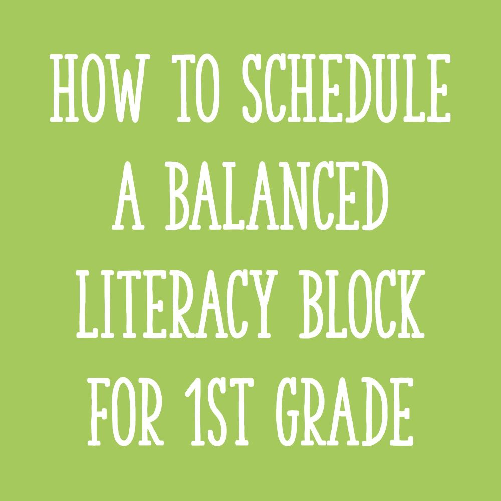 medium resolution of Fitting It All In: How to Schedule Your Literacy Block for First Grade -  Learning at the Primary Pond