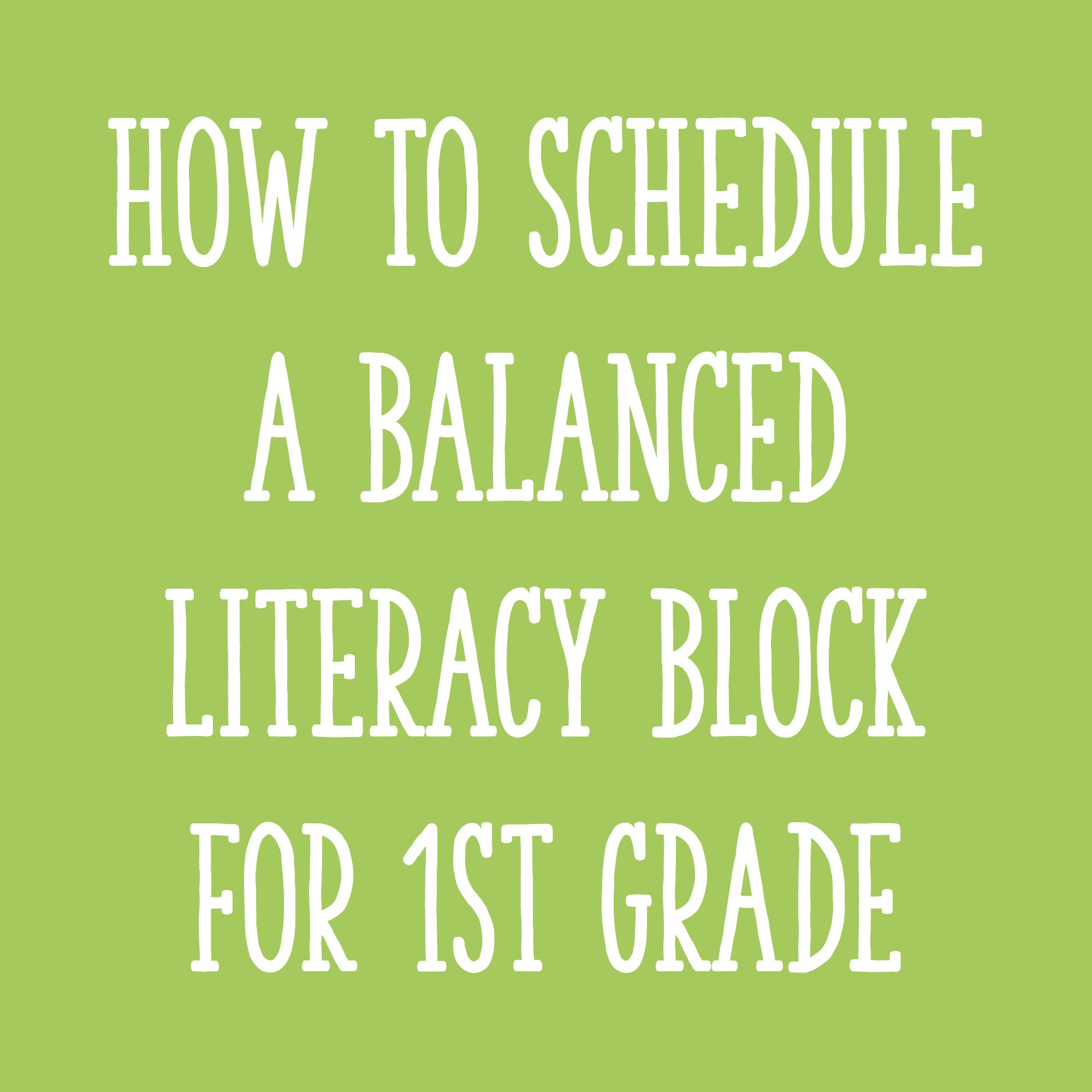 hight resolution of Fitting It All In: How to Schedule Your Literacy Block for First Grade -  Learning at the Primary Pond