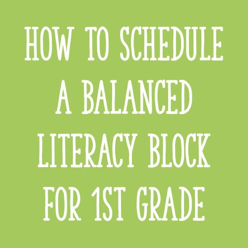 small resolution of Fitting It All In: How to Schedule Your Literacy Block for First Grade -  Learning at the Primary Pond