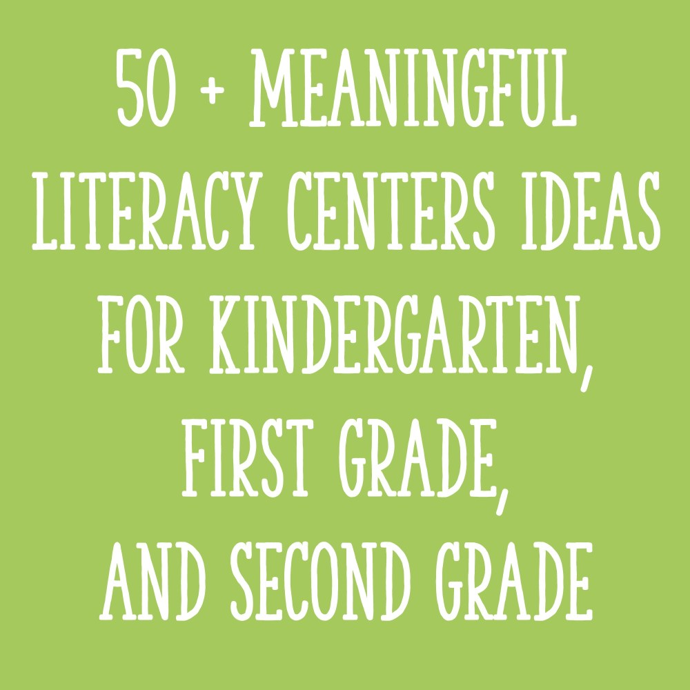 medium resolution of 50 + Meaningful Literacy Centers Ideas for Kindergarten
