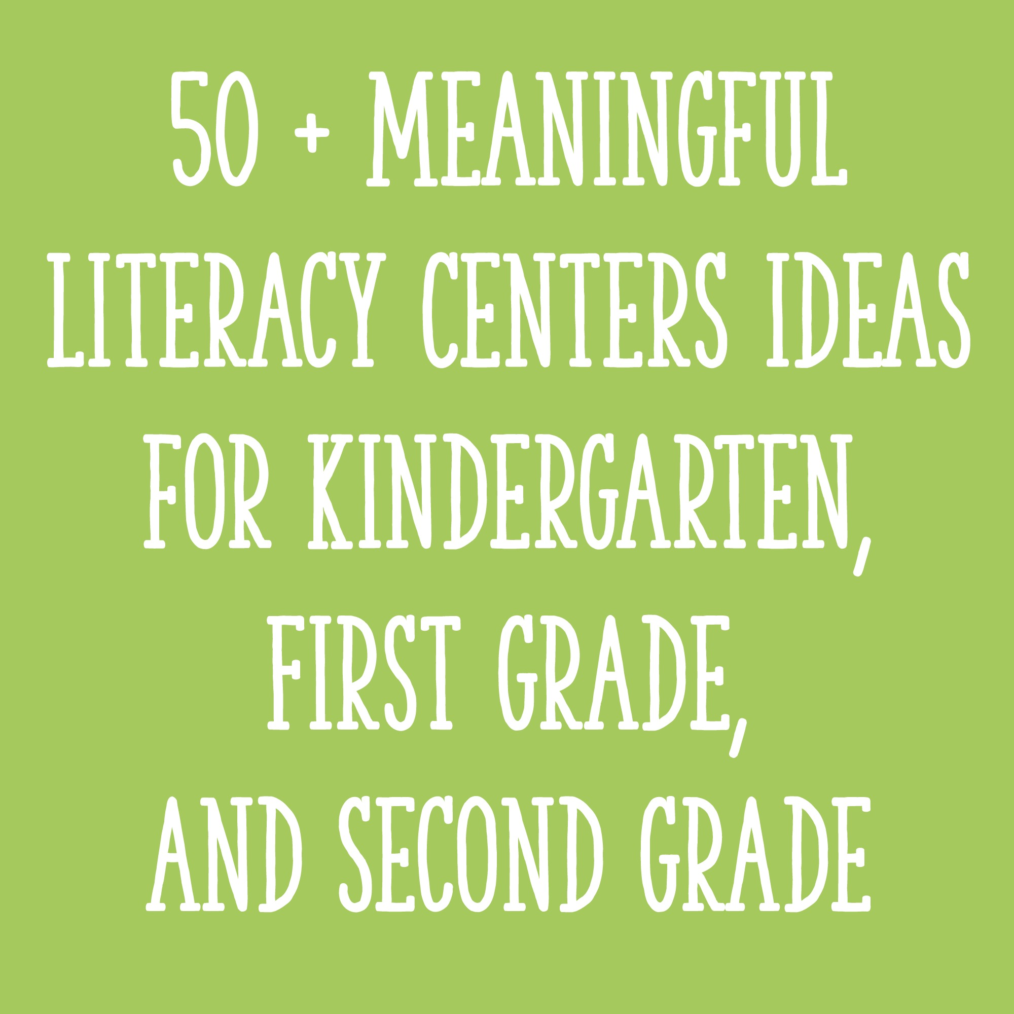 hight resolution of 50 + Meaningful Literacy Centers Ideas for Kindergarten