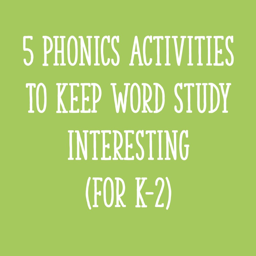 medium resolution of 5 Phonics Activities to Keep Word Study Interesting (for K-2) - Learning at  the Primary Pond