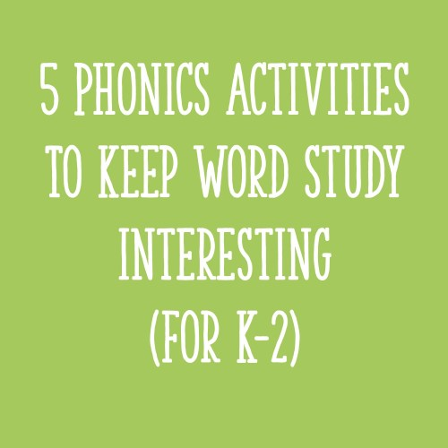 small resolution of 5 Phonics Activities to Keep Word Study Interesting (for K-2) - Learning at  the Primary Pond
