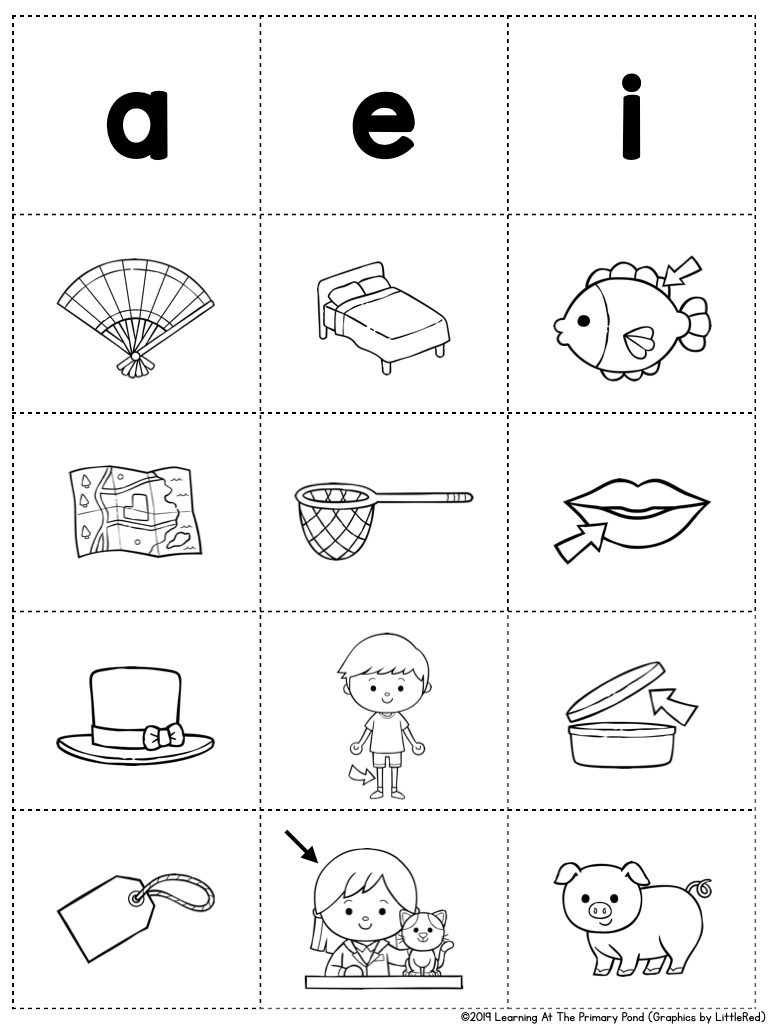 medium resolution of 5 Fun Short Vowel Activities That Only Take 5 Minutes - Learning at the  Primary Pond