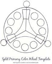 Color Wheel Templates/Split Primary Color Wheel Templates