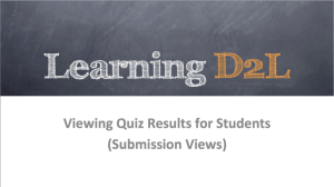 slide for Viewing Quiz Results Submission View