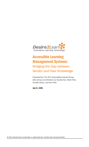 Accessible Learning Management Systems: Bridging the Gap between Vendor and User Knowledge