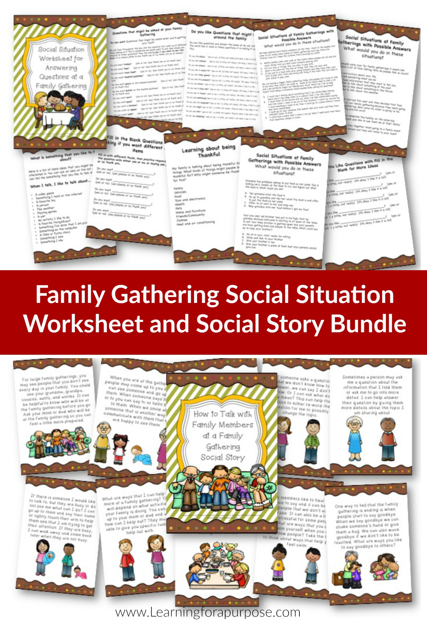 One Time Offer Family Gathering Social Situation Bundle