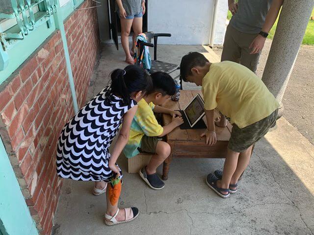 我們在台南奶奶家上課