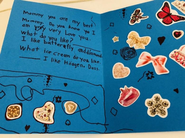 Maya 親手繪製的英文卡片