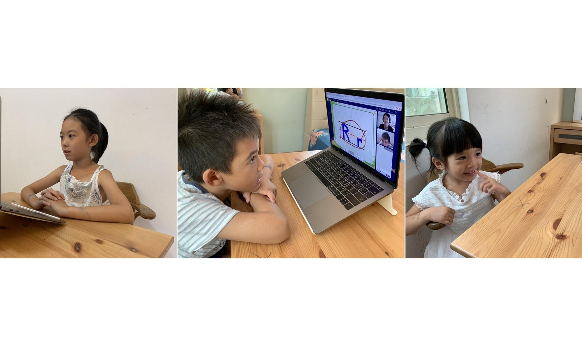 三位不同年齡的寶貝都在OiKID獲得良好的英文學習