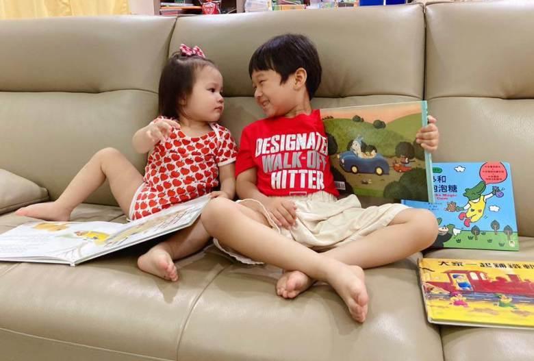 兩寶一起閱讀親子繪本