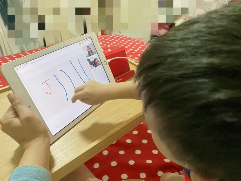 聽到老師說要畫畫,Q蛋馬上在IPad上大展身手