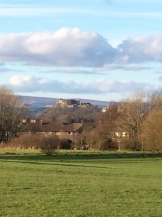 Stirling Castle in the distance