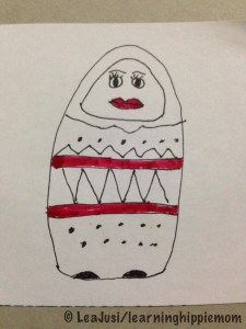 InkTober Day 2: Matryoshka Doll