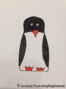 InkTober Day 3: Matryoshka Penguin