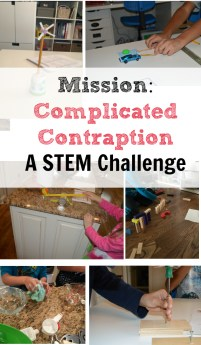 STEM Challenge to make a complicated contraption