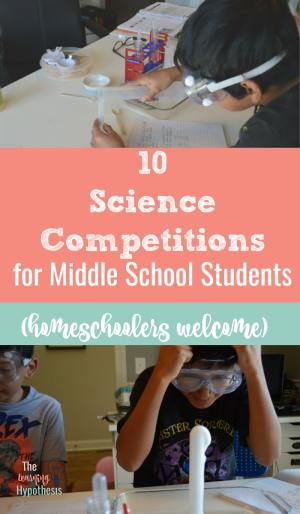 10 Science Competitions for Middle School Students