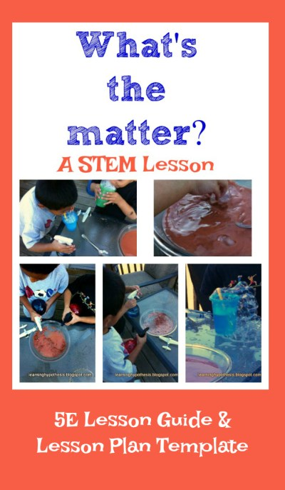 Science Experiments for Kids on Matter