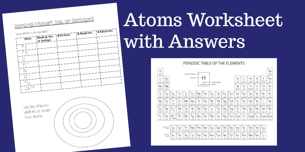 An Atoms Worksheet Ideal For Middle School Students