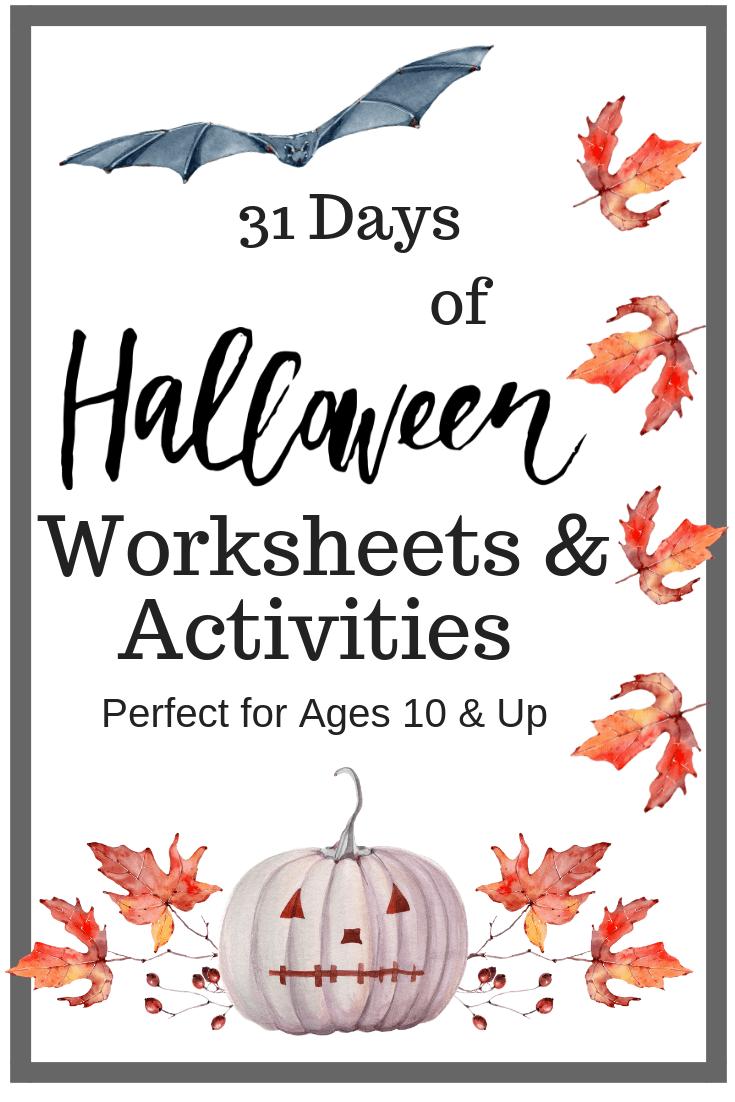 Halloween Worksheets \u0026 Activities for Older Kids FREE [ 1102 x 735 Pixel ]