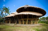 School buildings made from renewable bamboo.