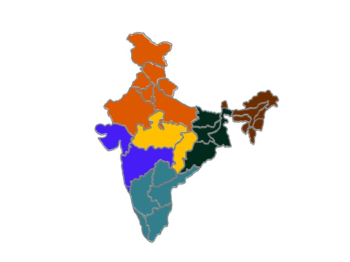 Indias by region regions of india learning india indias by region gumiabroncs Gallery
