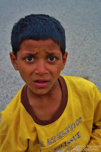 Confused indian boy