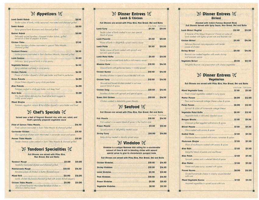 Ordering from a Menu