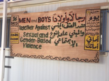 men and boys against violence at zatari