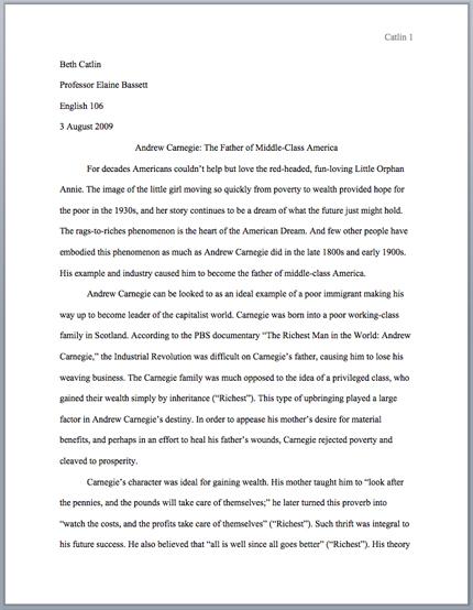 tok essay format